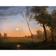 Lauren Sansaricq Landscape Oil Painting - Moonrise