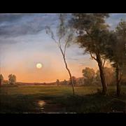 Lauren Sansaricq Landscape Oil Painting - Moonrise