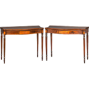 Rare Pair of Portsmouth, New Hampshire Federal Games or Card Tables, circa 1810