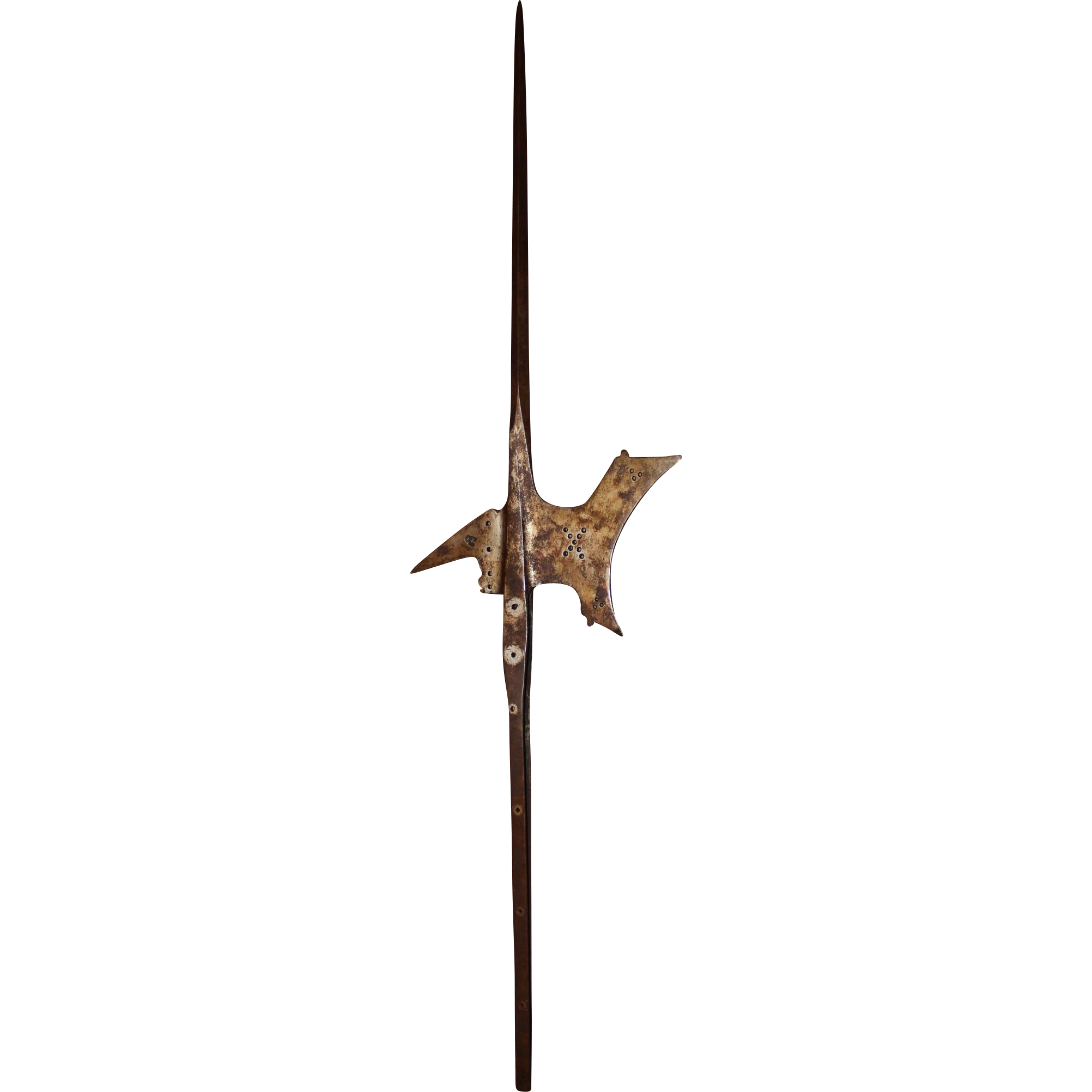 16th Century Iron Halberd from a Northern Bavarian Castle