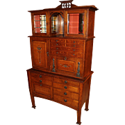 Early 20th Century Glasgow Oak Art Nouveau Inlaid Dental Cabinet