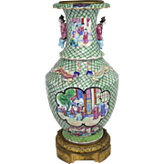 Chinese Export Vase with Bronze Mounts