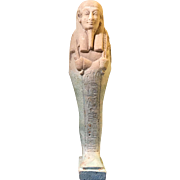 Ancient Egyptian Faience Ushabti Inscribed 'Neb-Mesu,' References to Navy