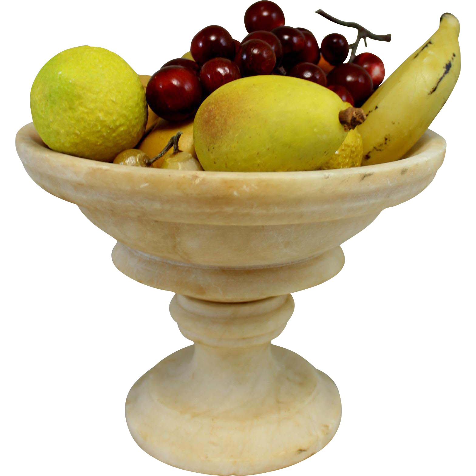 19th Century Hand Painted Stone Fruit in Compote