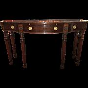 Joseph Gerte, Boston Solid Mahogany Console Table