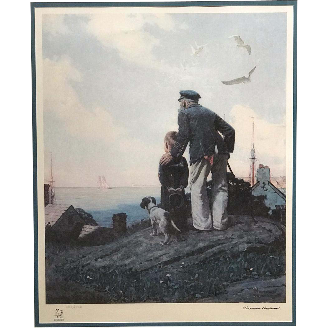 1983 Norman Rockwell Limited Edition Lithograph - Outward Bound 1355/2500