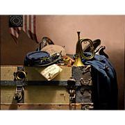 Don Doxey Oil Painting Civil War Still Life - Song of the Cavalry