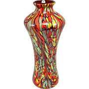 Fenton Art Glass Mosaic Swirl Vase, Limited Edition Dave Fetty Design 49/750