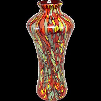 Fenton Art Glass Mosaic Swirl Vase, Limited Edition Dave Fetty Design 49/750