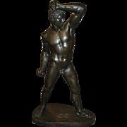 Large Italian Bronze of a Classical Wrestler, A Dressler Hopfgarten Roma