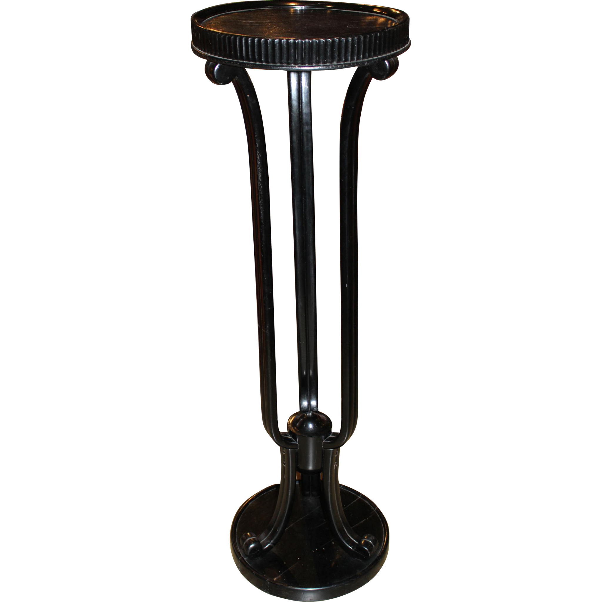 Ebonized Wooden Pedestal Designed by Otto Prutscher for Thonet