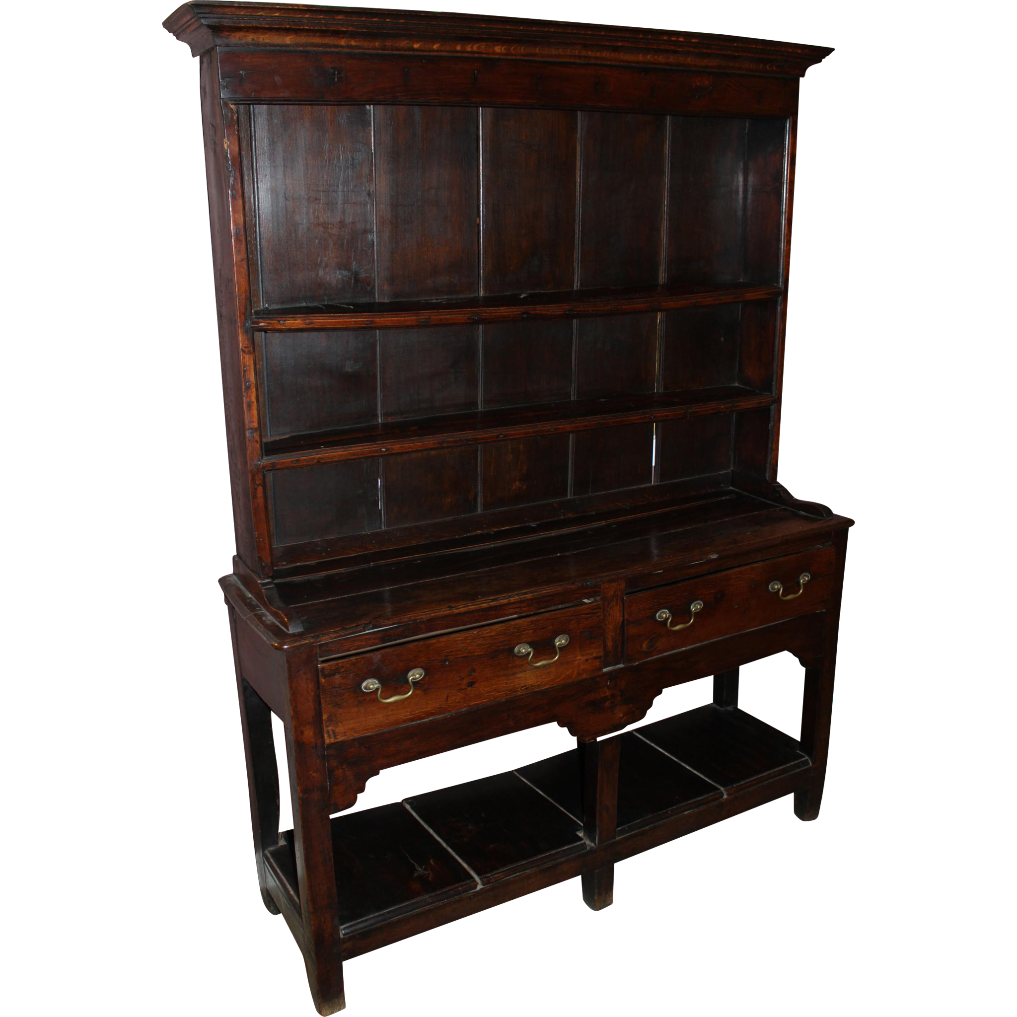 Diminutive 18th Century Georgian Oak Welsh Cupboard