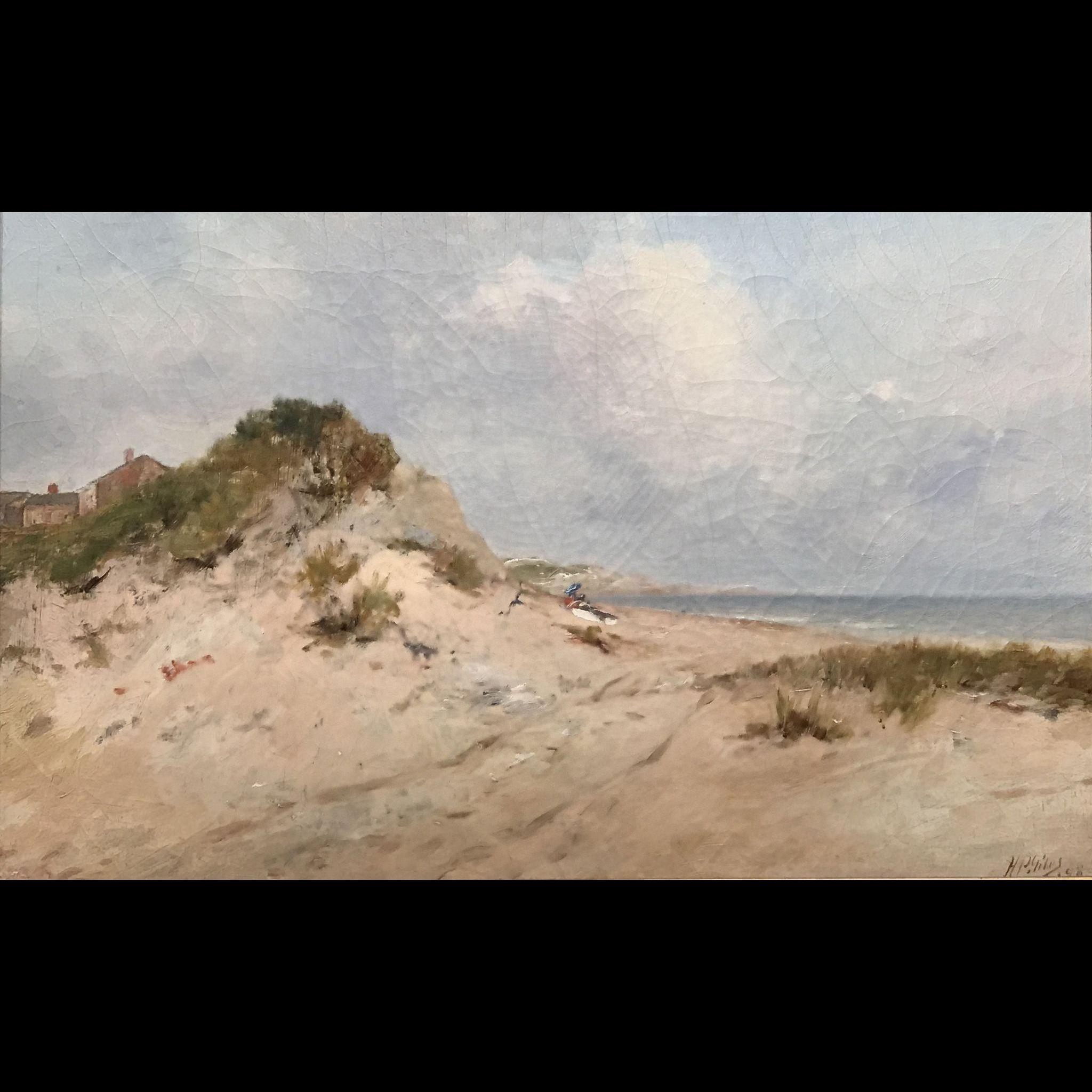 Horace P. Giles Coastal Oil Painting - Salisbury Beach MA 1898
