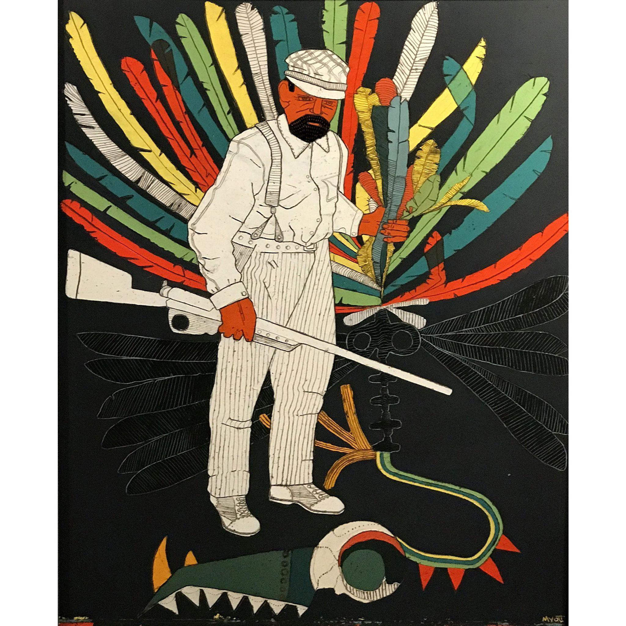 Christopher Myott Modernist Oil Painting - Docterminus