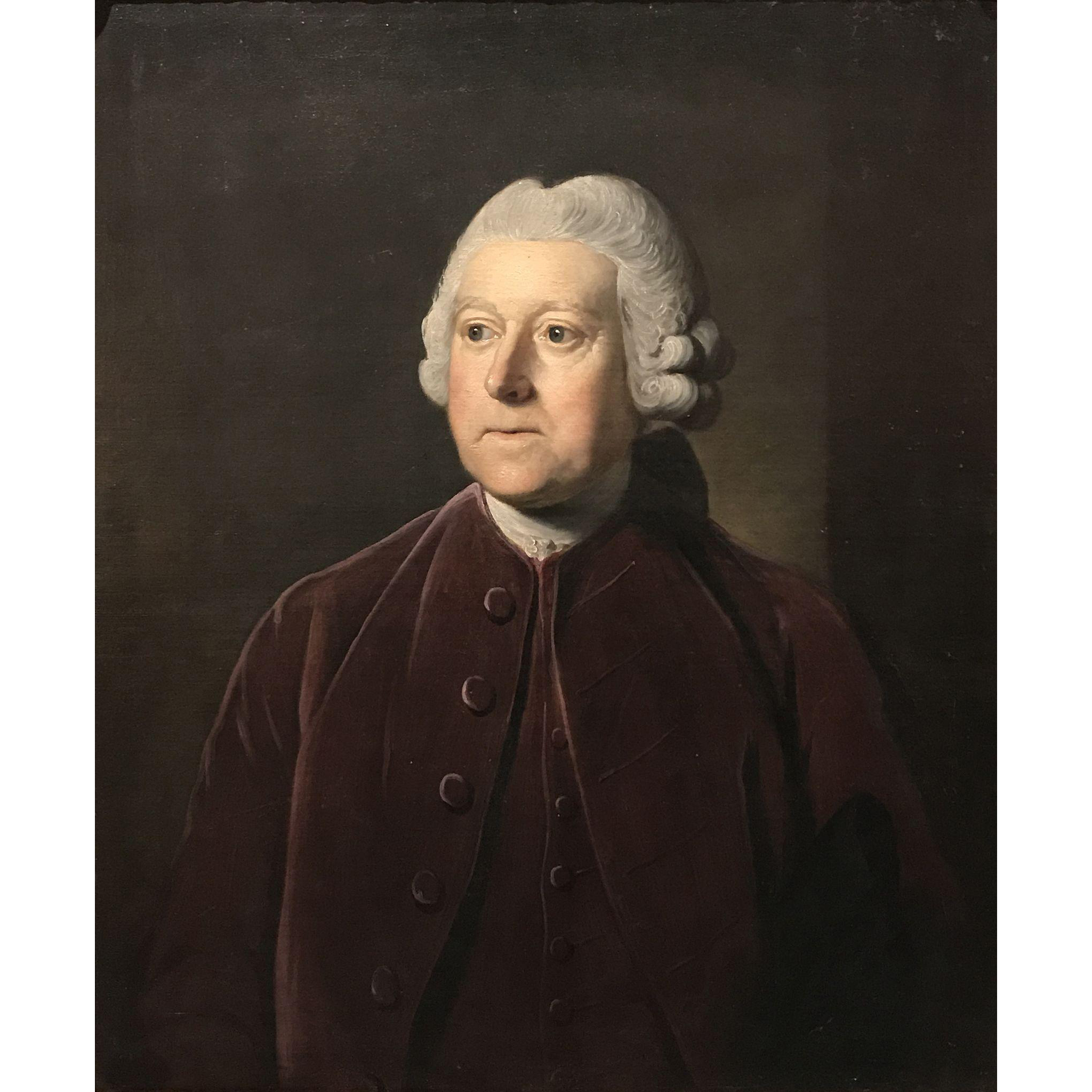 Nathaniel Dance-Holland 18th c Oil Painting Portrait  of Sir Charles Pinford, Governor of Barbados