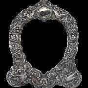 Tiffany & Co Art Nouveau Sterling Silver Repoussé Frame Surround
