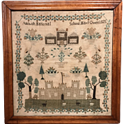 Mary Owen Needlepoint Sampler, Amlwch National School, Wales, dated 1825