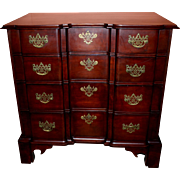 Connecticut Chippendale Cherry Block Front Chest of Drawers