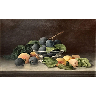 Annie M. Snyder Oil Painting Still Life with Fruit