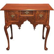 Early 18th Century Massachusetts Queen Anne Walnut Veneered Lowboy