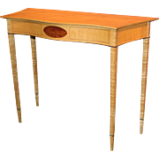Garrett Hack NH Furniture Master Hepplewhite Style Birdseye & Tiger Maple Console with Inlay