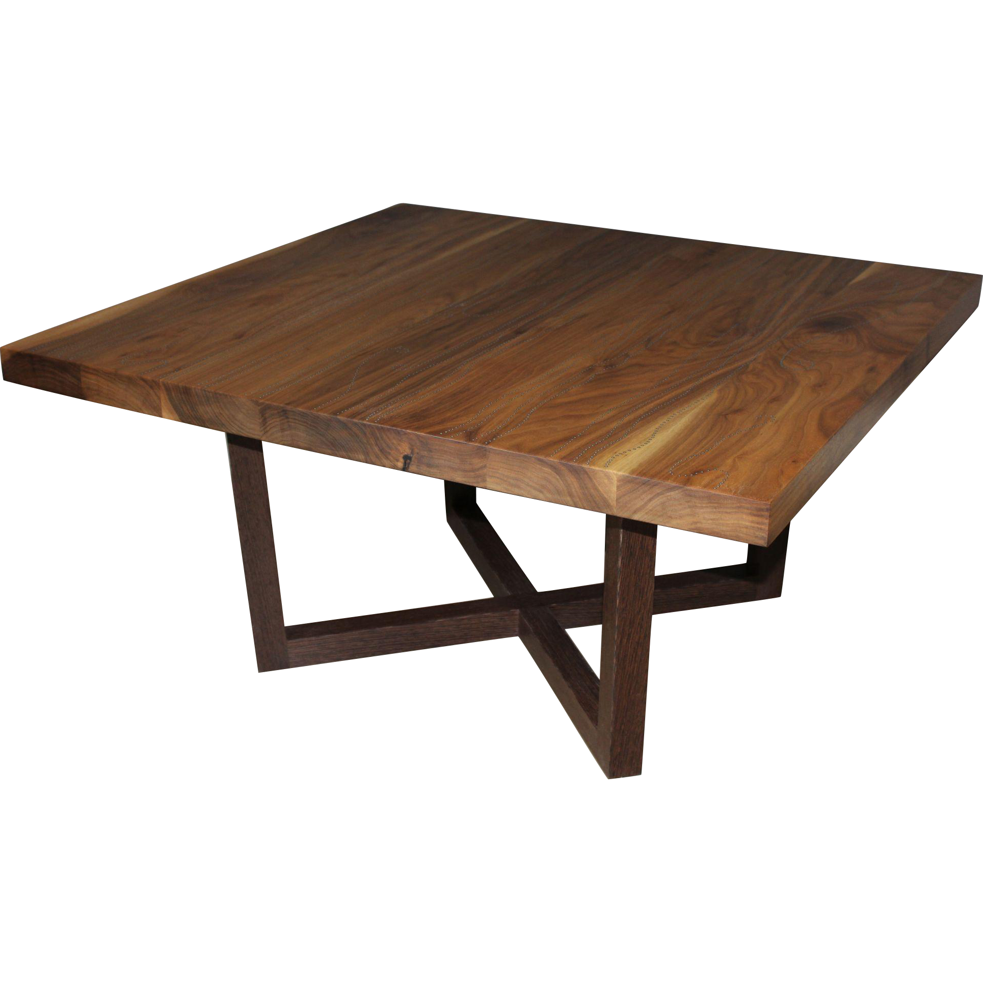 Peter Sandback Modernist Low Square Table in Bleached Walnut and Wenge