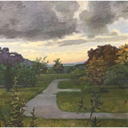 Gillian Pederson-Krag Oil Painting Landscape with Walkways