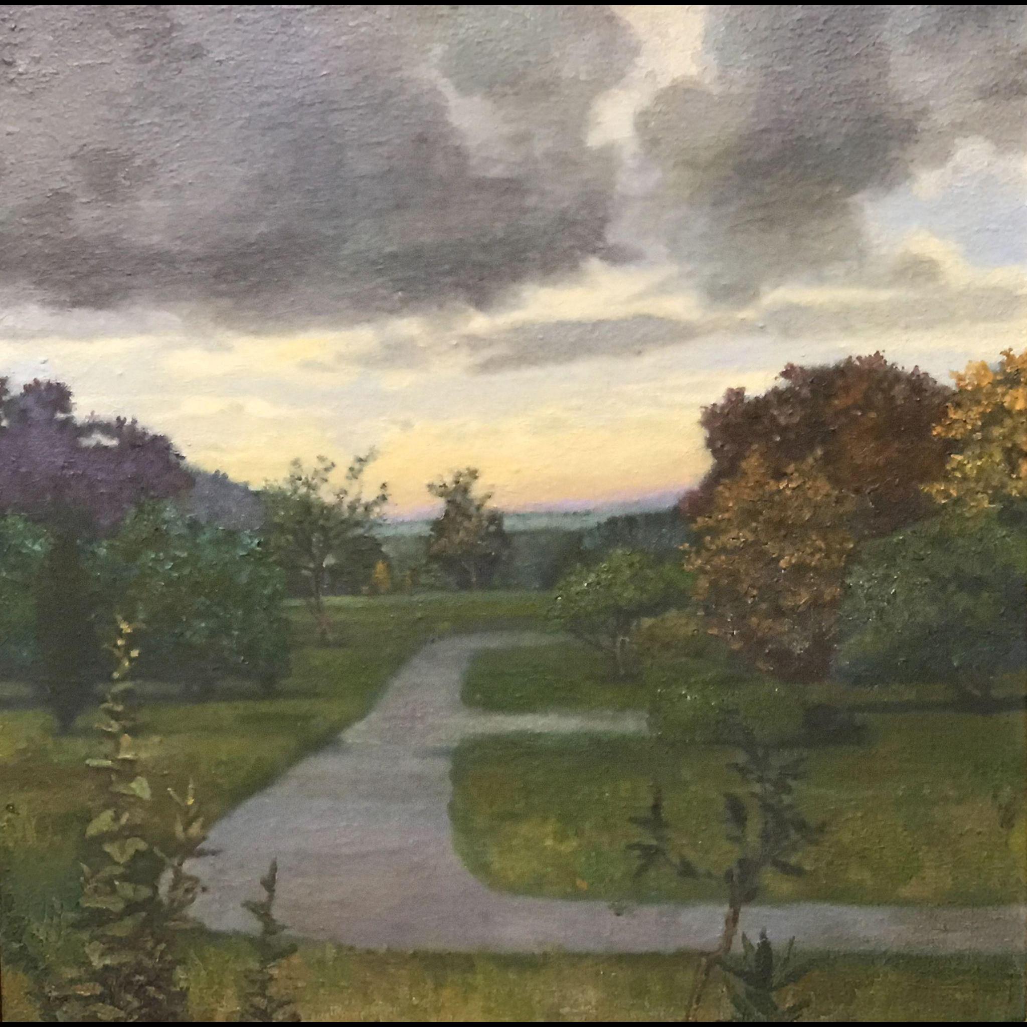Gillian Pederson-Krag Oil Painting Landscape with Walkways