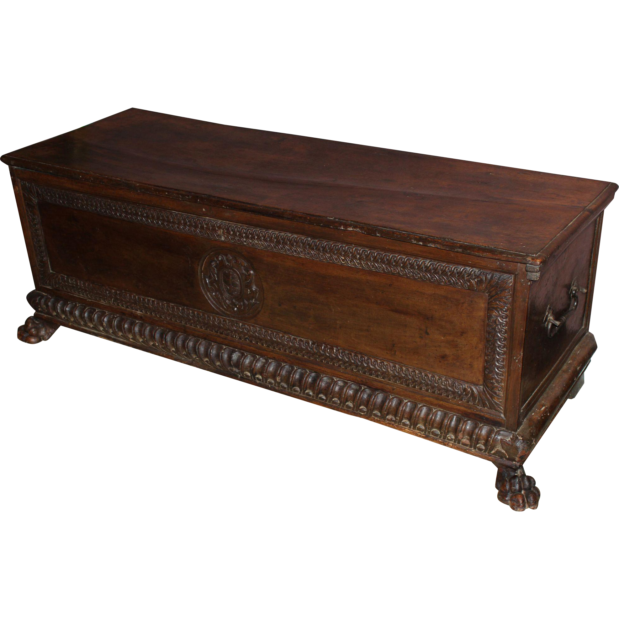 16th Century Italian Walnut Carved Cassone