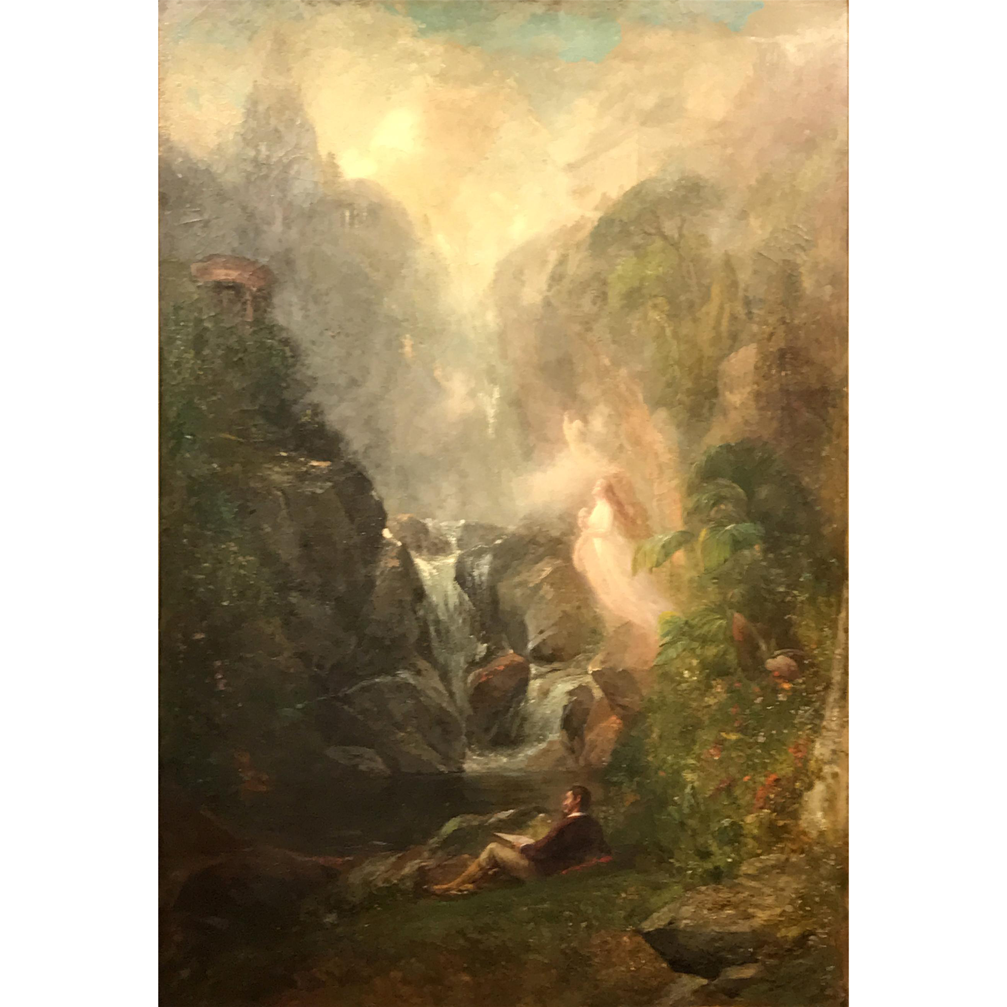 Samuel Lancaster Gerry Landscape Oil Painting - The Artist's Dream