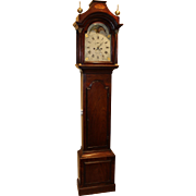 18th Century English Mahogany Tall Clock by William Strickland, Tenterden