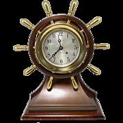 Rare Large Chelsea Yacht Wheel Ship's Bell Clock