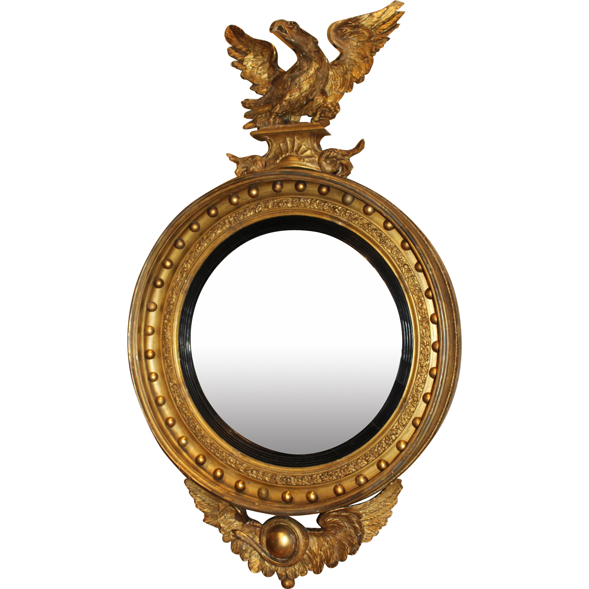 Exceptional Girandole Mirror with Rare Eagle & Serpent Motif