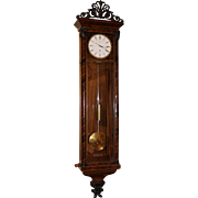 Rare Vienna Regulator Biedermeier Wall Clock by Alois Schenk, Wien circa 1840