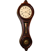 E. Howard & Co. No. 9 Walnut Figure 8 Wall Clock circa 1870's