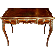 Louis XV Style Kingwood Parquetry Writing Desk