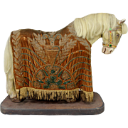 Composition Draft Horse with Custom Made Beaded Blanket