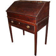 18th / 19th c Two Part Pine Schoolmaster's Desk with Dovetail Construction