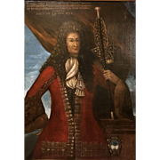 Late 17th Century Oil Painting Portrait of Lord Vincenzo of Ormea, Savoy