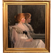 Louise Williams Jackson Oil Painting Profile Portrait of Woman with Reflection