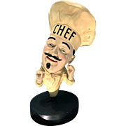 Chef Figural Composition Advertising Display 1960's-80's