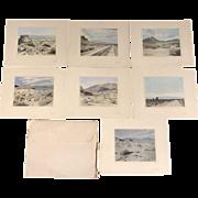 Set of 7 Harold A. Parker Desert Photographs with Original Folio