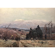Chauncey Foster Ryder Landscape Oil Painting, First Snow on Moosilauke, NH - Dartmouth College