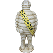Bibendum The Michelin Man Cast Iron Polychrome Advertising Figure for Michelin Tires