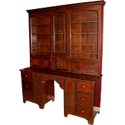 Rare 19th c Apothecary Cabinet / Desk with Glazed Doors
