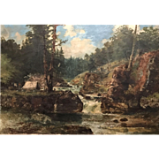 Peter F. Lund Oil Painting Landscape - Lester Park, Duluth, Lake Superior 1896