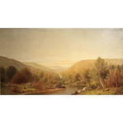 Charles Wilson Knapp Oil Painting Early Evening Landscape