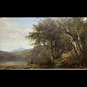 James McDougal Hart Hudson River School Oil Painting View of Lake Placid 1862