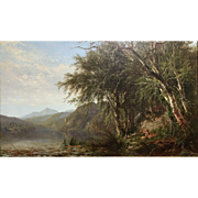 James McDougal Hart Hudson River School Oil Painting View of Lake Placid 1862