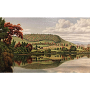 Levi Wells Prentice Oil Painting of an Adirondack Landscape, Autumn Reflections